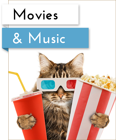 movies and music button
