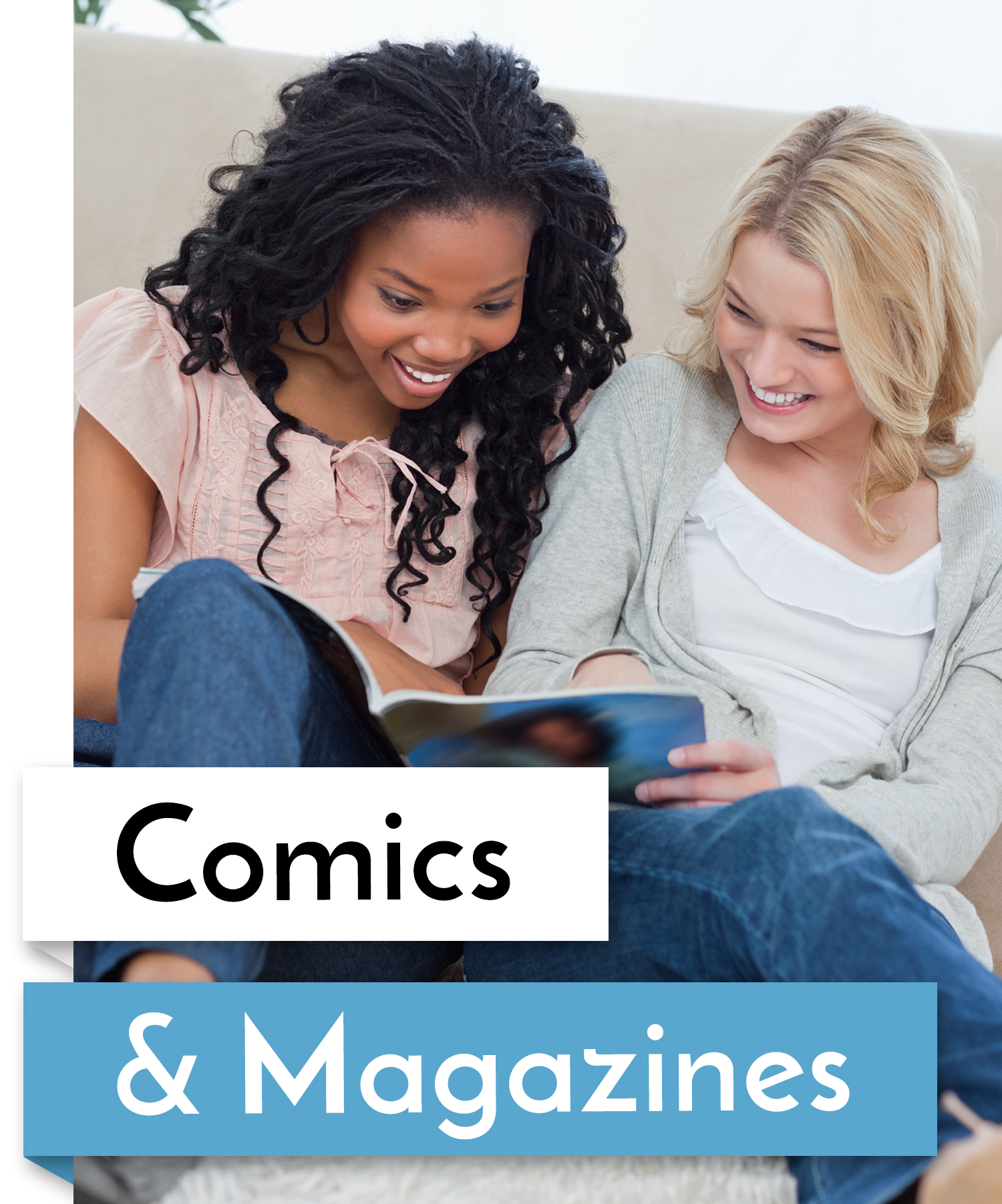 comics and magazines button