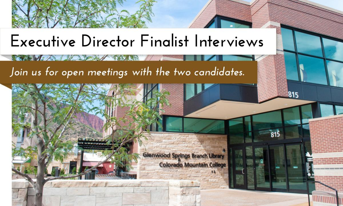 Executive Director finalist interviews taking place