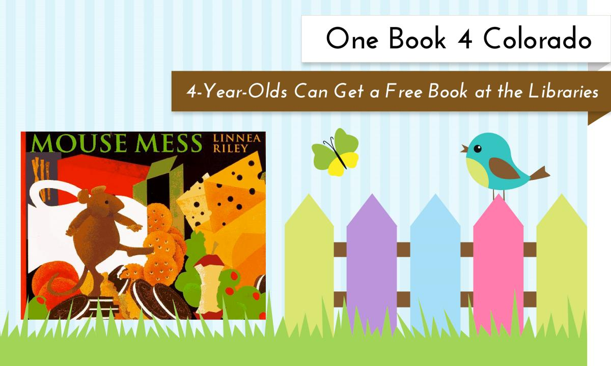 Get a free book for your 4 year old at any Garfield County Libraries location