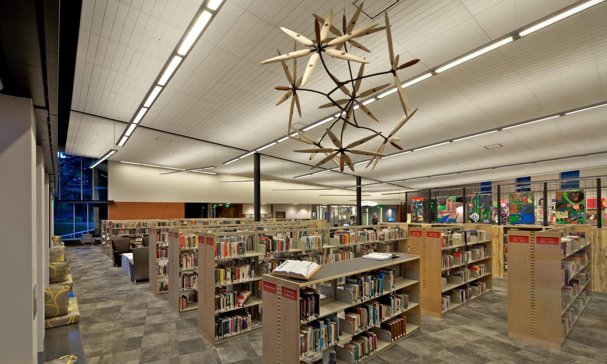 Art and library stacks
