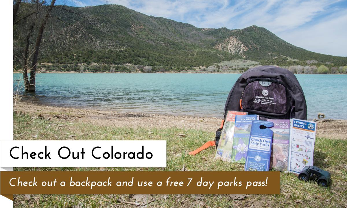 Check Out Colorado by grabbing a state park pass and adventure backpack with your library card