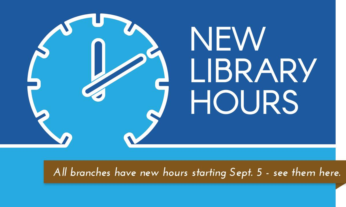 Garfield County Libraries will have new hours starting September 5, 2017