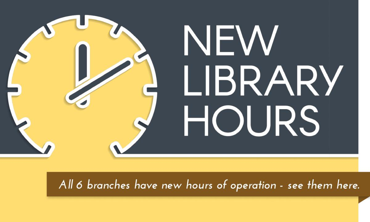 Learn about our new operating hours and changes at the Garfield County Libraries