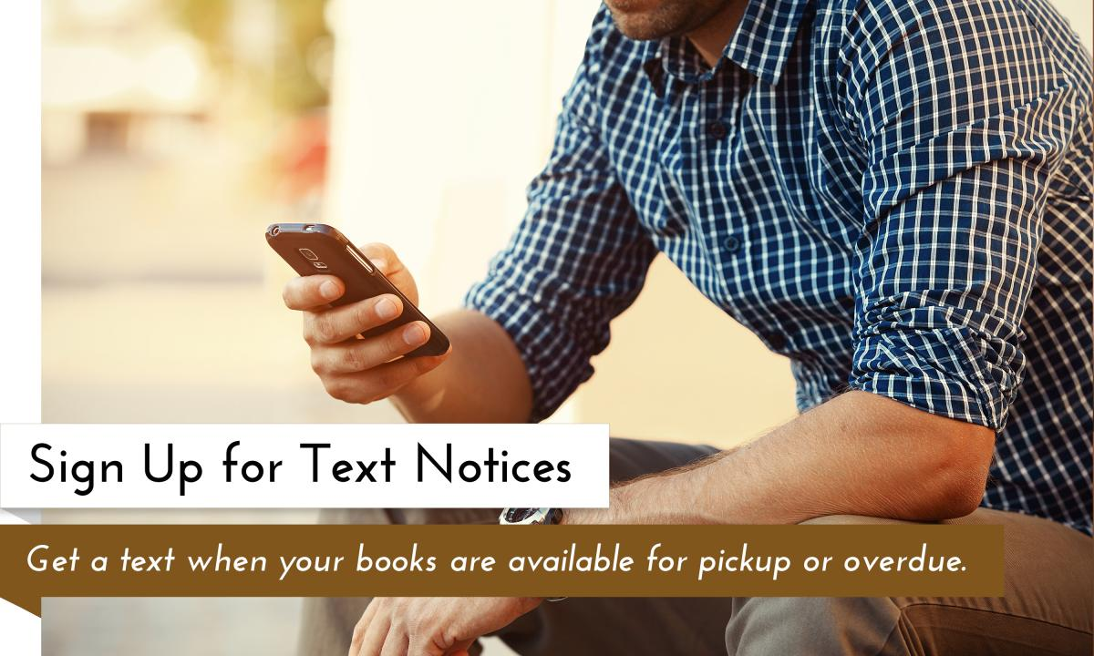 Renewing Books via Text message is Now Available at the Garfield County Libraries