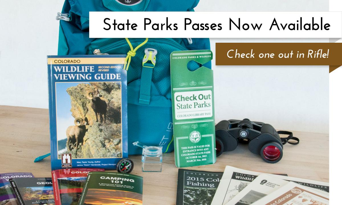 Get access to Colorado State Parks through the library