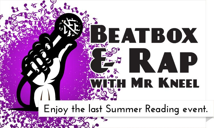 "Mr. Kneel shares his love of reading and helps ""Build a Better World"" with beatbox and rap for kids"