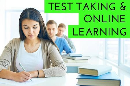 test taking and online learning