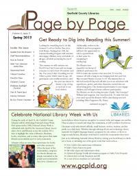 Spring 2013 Newsletter