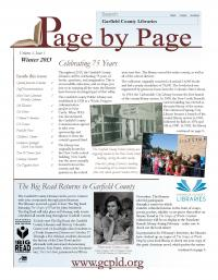 cover of winter 2012 newsletter