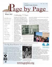 cover of winter 2012 newsletter
